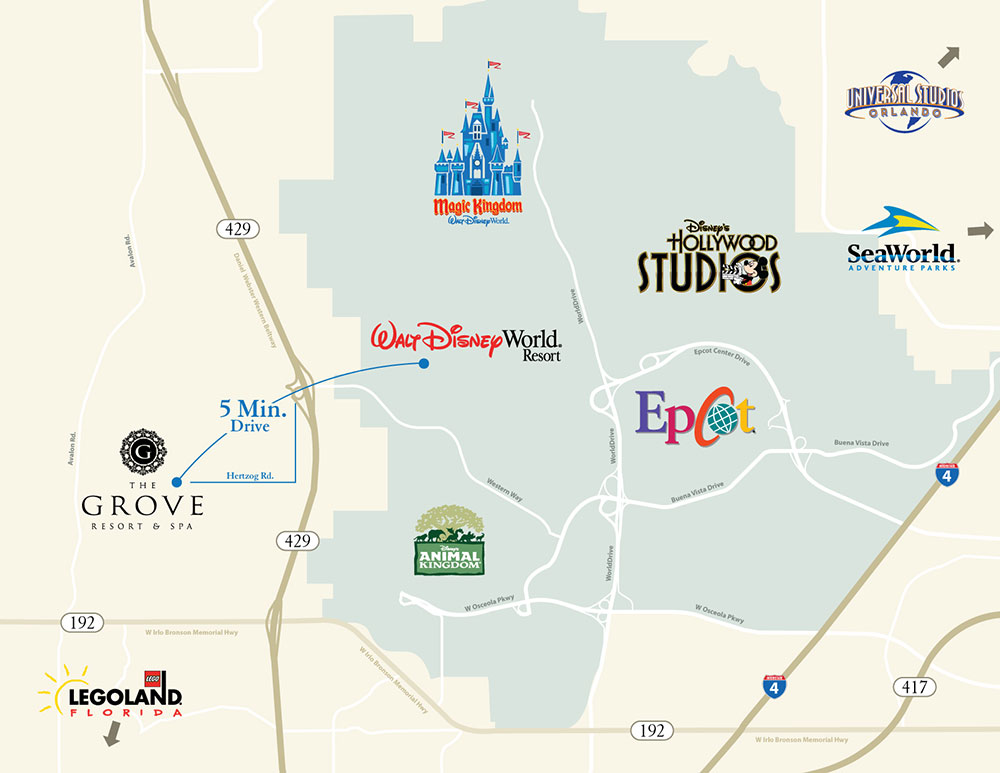 map of The Groves Resort and Spa